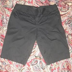 The Limited Drew fit black dress shorts